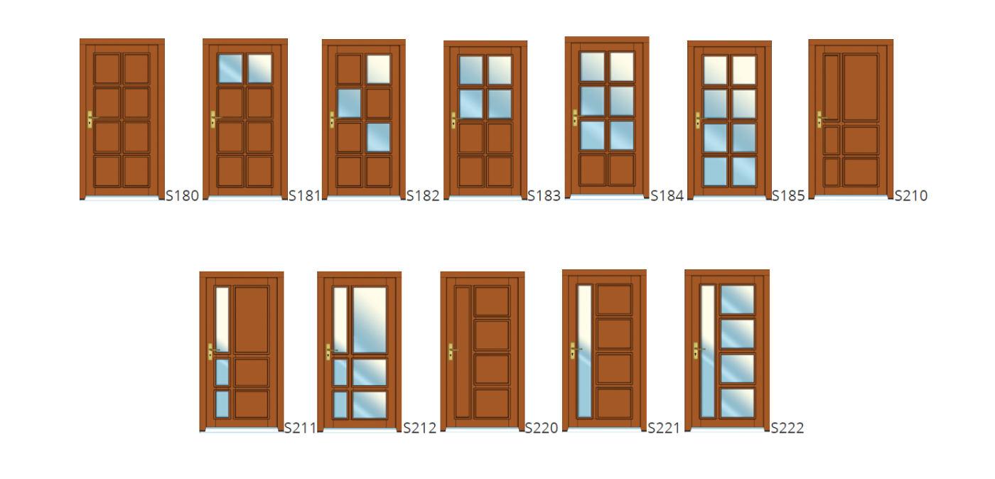 Vzory dveří