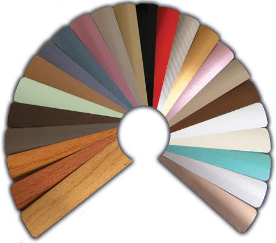 Žaluzei - barevné vzory